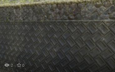 河川のブロック壁